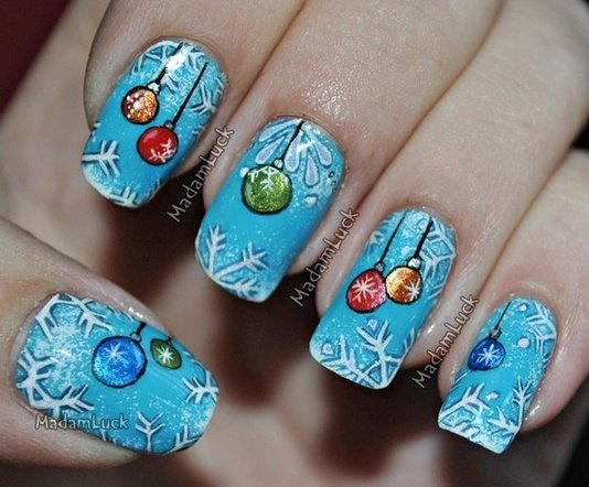 47 best Christmas Ornament Nail Art Designs images on Pinterest