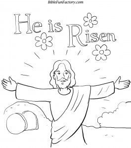 he is risen bible coloring pages easter cccpinehurstcm - Biblical Coloring Pages Easter