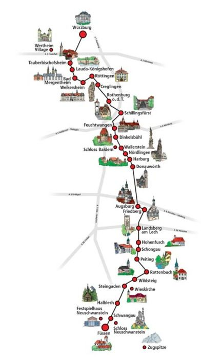 Kastelen -The Romantic Road, Germany