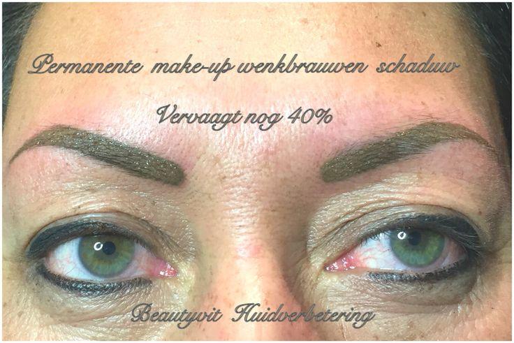 Permanente make-up Van wenkbrauwen met schaduw techniek. Vervaagd na de behandeling nog 40%. heeft u donkere wenkbrauwen of veel haartjes maar geen mooie vorm , dan is pmu schaduw iets voor u. Beautyvit Huidverbetering dreef 10 Breda 0765223838 info@beautyvit.nl www.beautyvit.nl