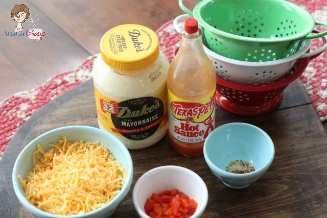 Homemade Pimento Cheese ingredients