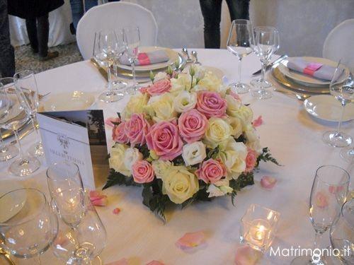 centrotavola matrimonio rose rosa e rose bianche di Future Emotion di Patrizia Leonardi Wedding Plann - Wedding planner Varese (VA)