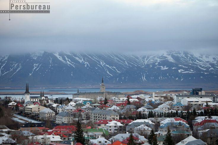 Reyjavik seen from Perlan. Iceland.