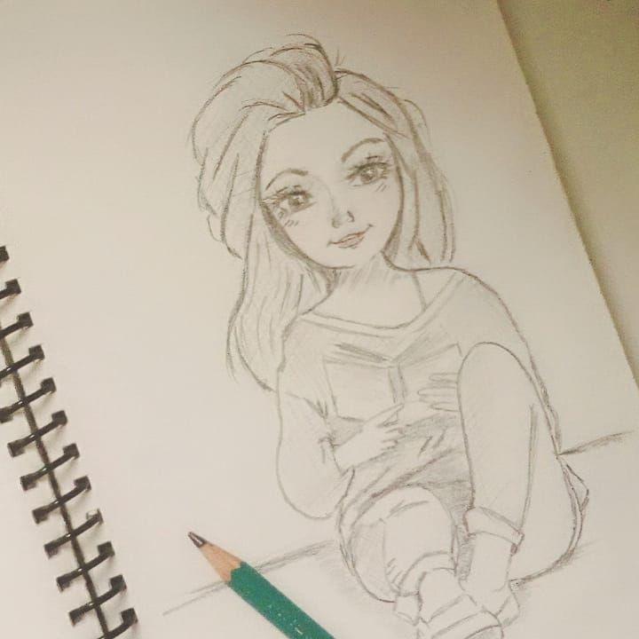 Dibujo Mujer A Lapiz Dibujo Facil Mujer Leyendo Dibujo Mujer