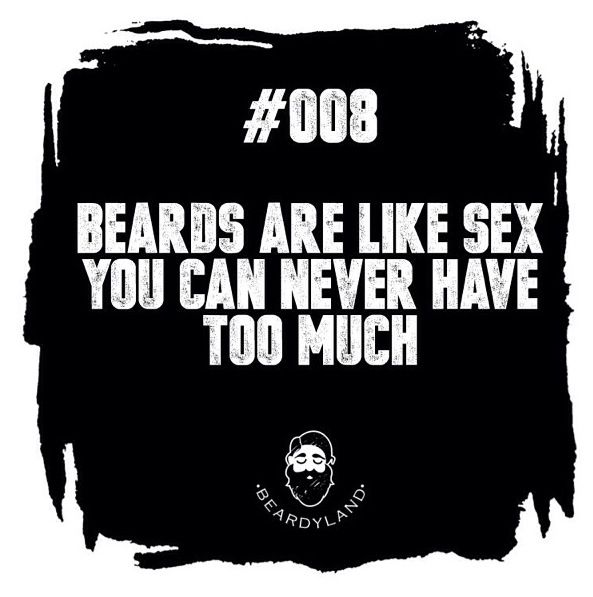You can never have too much bearded sex