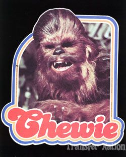 chewbacca vintage iron on | Chewbacca T-shirt from Star Wars with 70's Iron-on Transfer