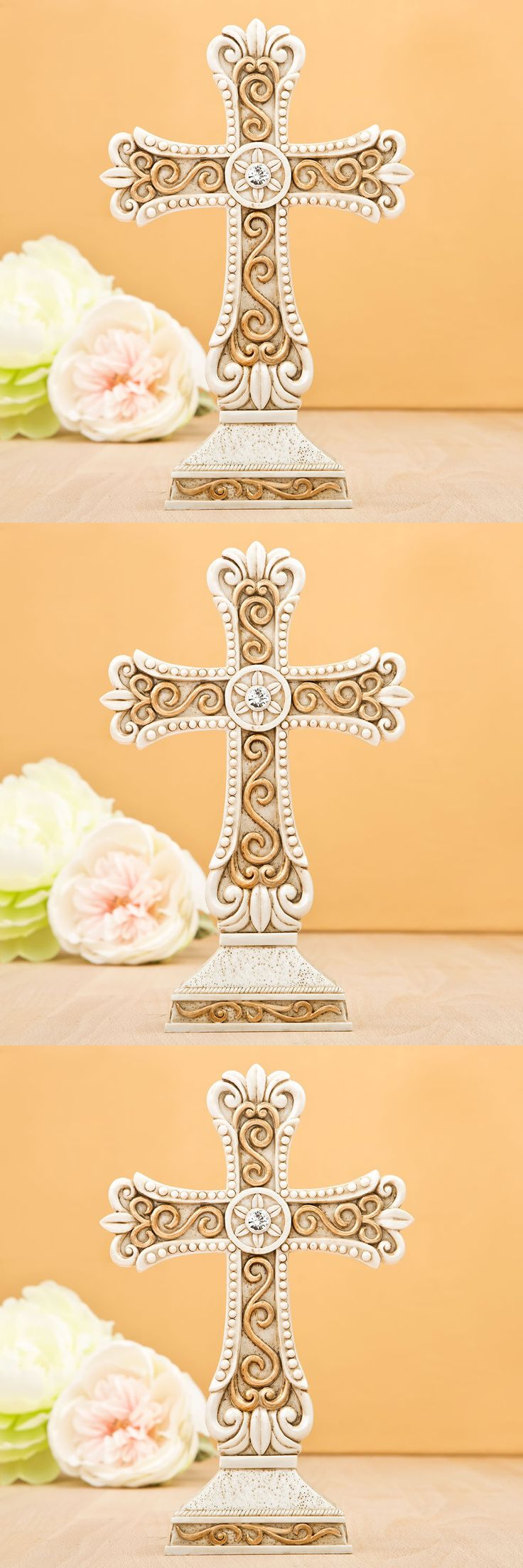 Favors and Party Bag Fillers 26385: 20 Antique Cross Statue Figurine Large Baby Shower Party Event Favor Bulk Lot -> BUY IT NOW ONLY: $155.99 on eBay!