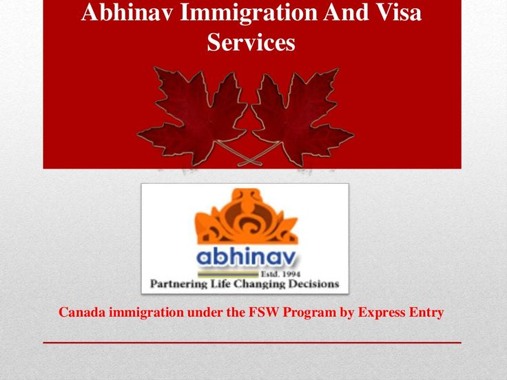 Canada immigration under the fsw program by express entry by Gaurav Rana via slideshare