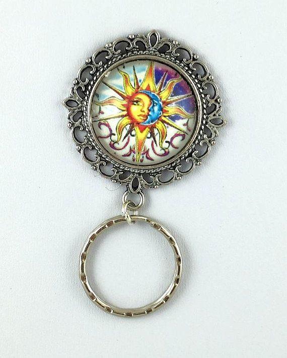 Sun Moon Art Magnetic Eyeglass Holder, Magnetic Badge Holder, Magnetic Brooch, Magnetic Pin Holder, Magnetic Name Tag Holder, Glasses Holder