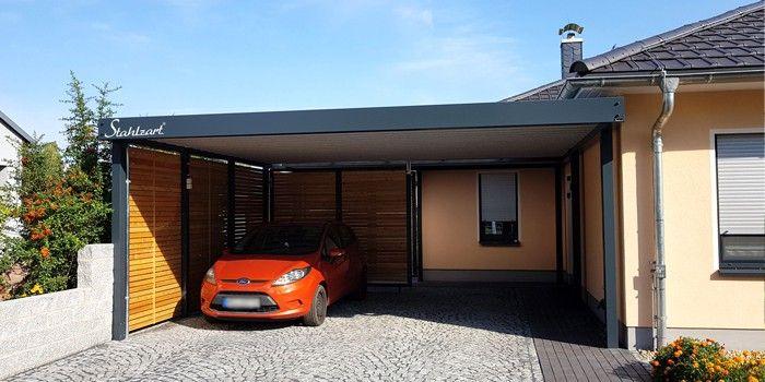 Doppelcarport Metall Holz Stahl Abstellraum Haus Anbau Stahlzart Carport Metall Outdoor Dekorationen Doppelcarport