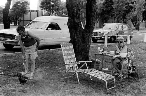 photo:  Rennie Ellis -   Aussie Family BBQ, Albert Park, Melbourne Australia  1974