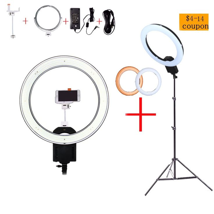 """168.3$  Watch here - NanGuang CN-R640 19""""Photo/Video/Studio/phone 640 LED 5600K Camera Macro Ring Light Lamp for Makeup Photography With tripod Stand   #bestbuy"""