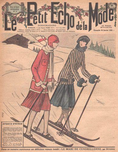 Ski wear, Le petit echo de la mode, 1920s