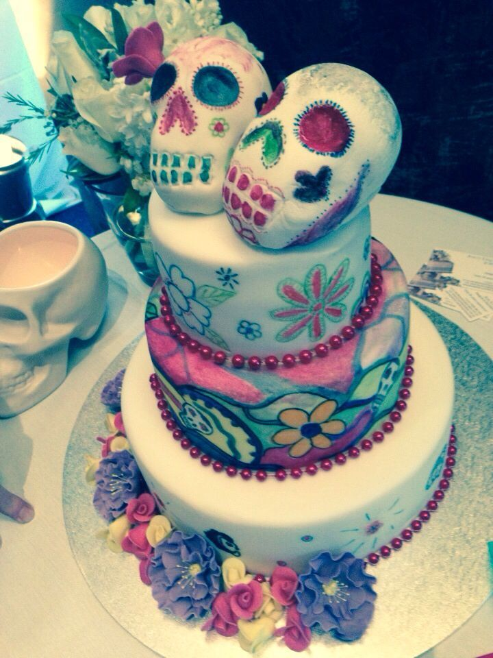 candy skull wedding cake 24 best cake images on beautiful cakes skull 12352
