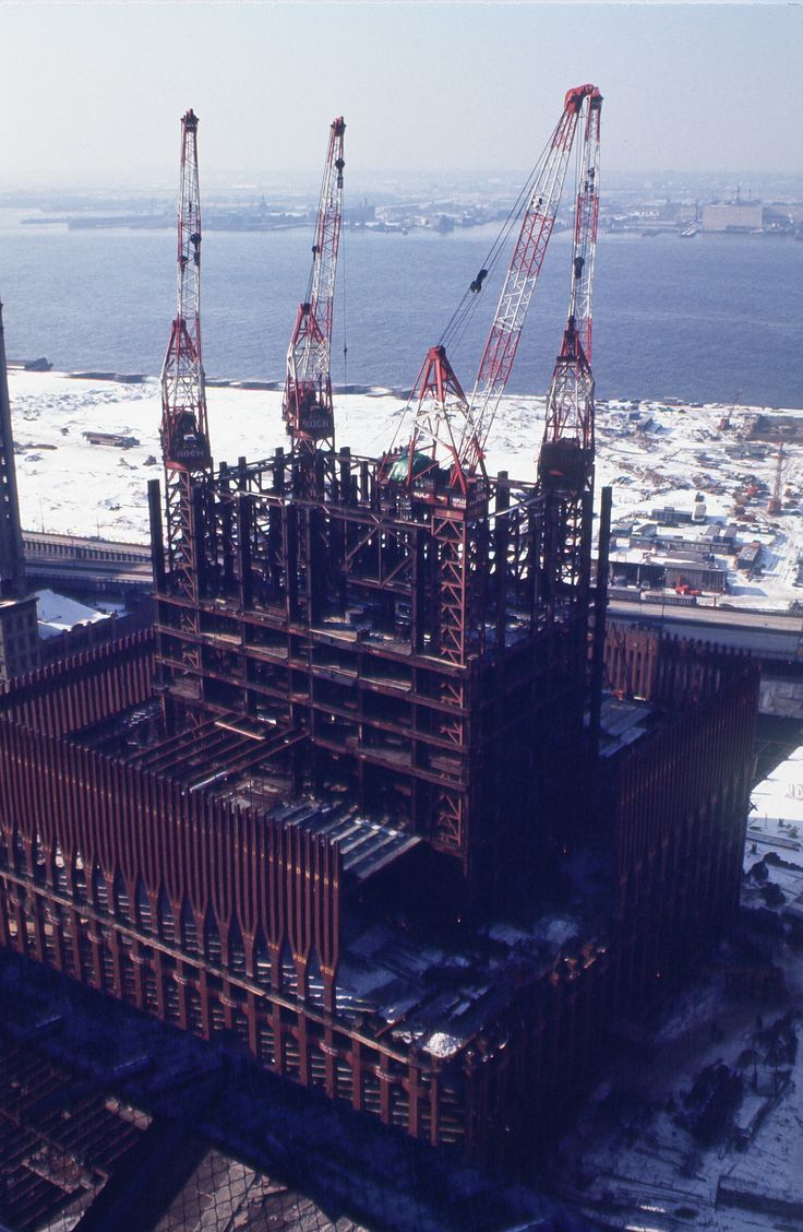 Construction of the World Trade Center ca. 1970 / Collection of the 9/11 Memorial Museum, Gift of the Family of Peter Zindulka