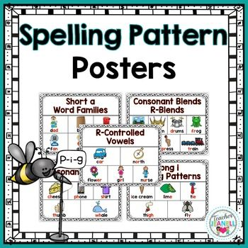 This colorful spelling pattern poster pack is a great way to introduce and reinforce spelling patterns.