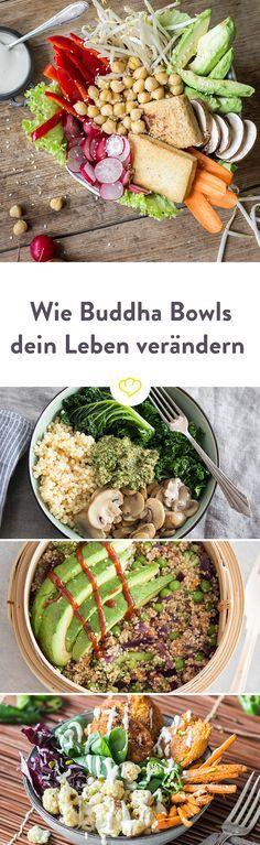 Was sind eigentlich Buddha Bowls? Finde heraus, was hinter dem Trend steckt und warum jetzt alle von den prallgefüllten Schüsseln schwärmen.