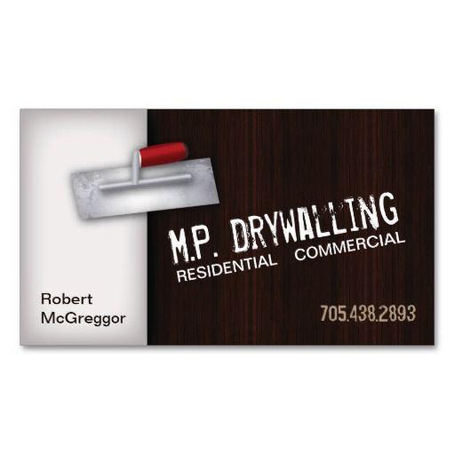 Drywall Business Card Logo Ideas Clipart Vector Design