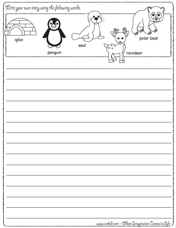 Story writing - drawing - free printables