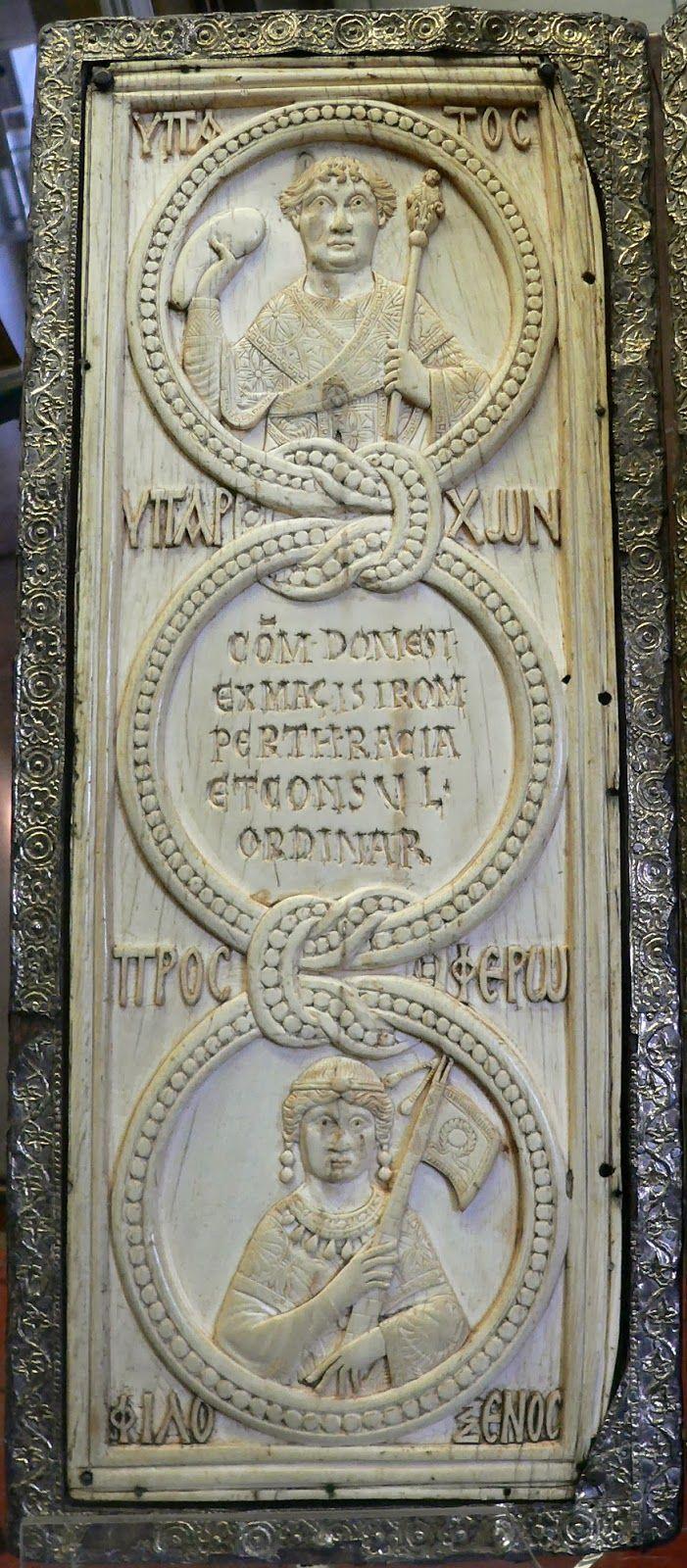 Το βυζαντινό υπατικό δίπτυχο του Φλάβιου Θεοδώρου Φιλόξενου.http://leipsanothiki.blogspot.be/