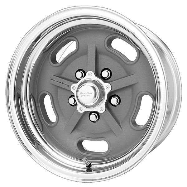 AMERICAN RACING WHEELS VN470 SALT FLAT SPECIAL GRAY CENTER WHEEL with POLISHED RIM