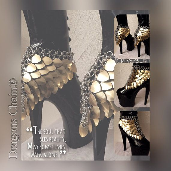 Heels Scale Jewelry 'Chrissie'  Dragons Chain®  by DragonsChain                                                                                                                                                                                 More