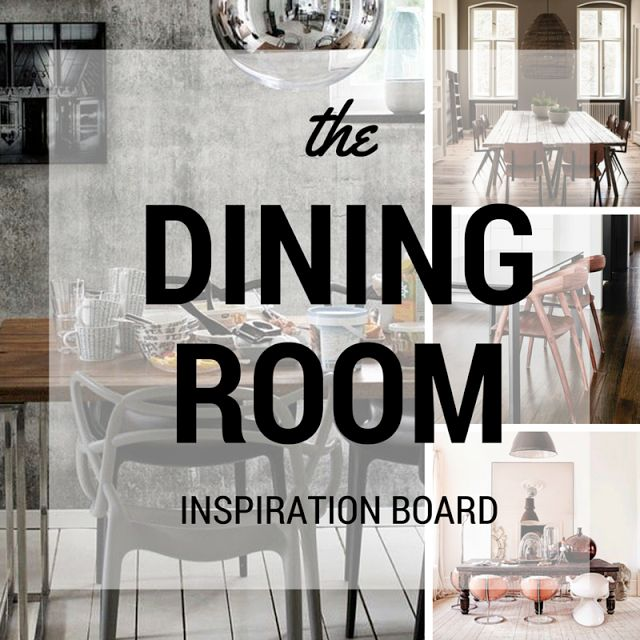 Dining room decoration ideas, dining room inspiration board, dining room photos • the Round button
