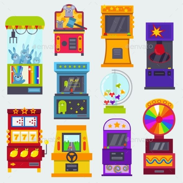 Game Machine Vector Arcade Gambling Games