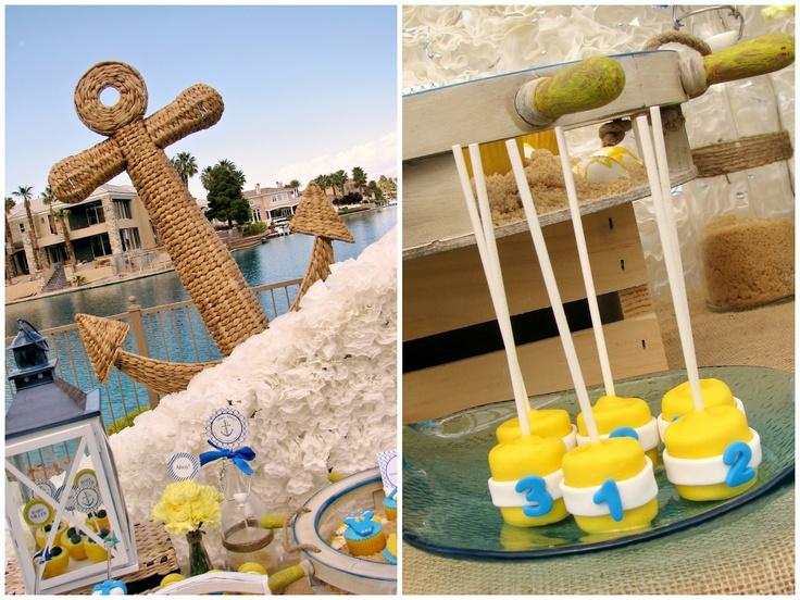 Marshmallow nautical buoys