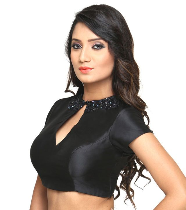 #Black Bengal #Silk  #Blouse at #Indianroots