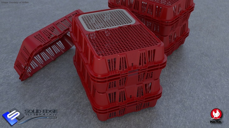 Chicken Crate.  Modeled in Solid Edge ST5.
