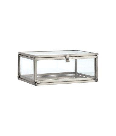Kleiner Kasten aus Klarglas | Silberfarben | Home | H&M DE