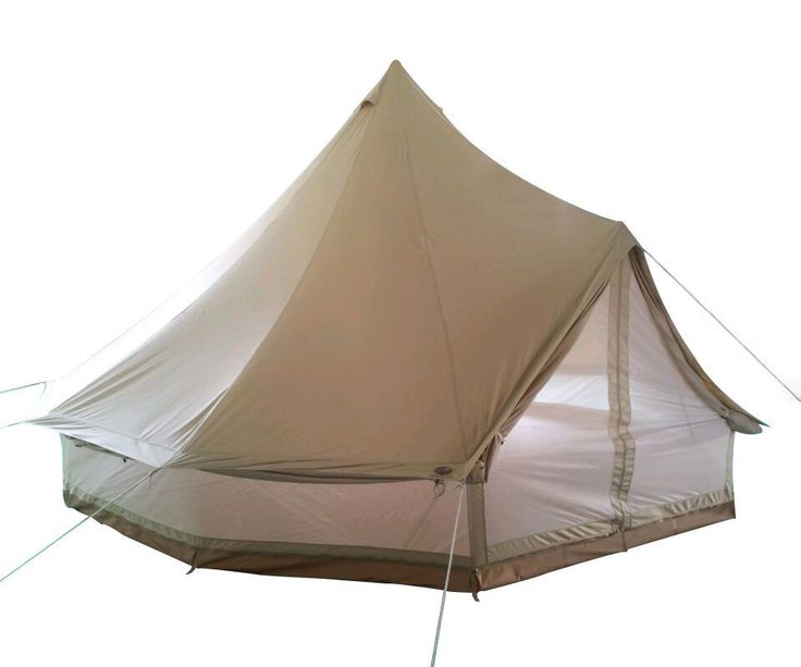 Double Wall 4m Canvas Bell Tent  Waterproof 5m Bell Tent with Zipped Mesh Wall
