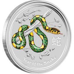 World Money Fair - Berlin Coin Show Special 2013 Year of the Snake 1oz Silver Coloured Coin
