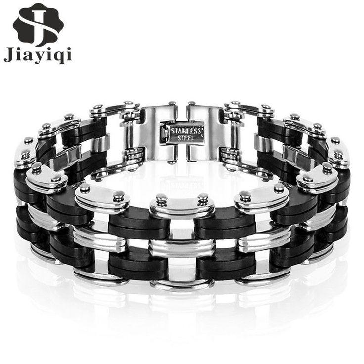Men Bracelet High Quality Stainless Steel Silicone Bracelet