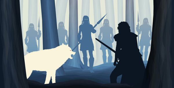 Game of Thrones (GOT) example #110: White Walkers - Game of Thrones Art Print