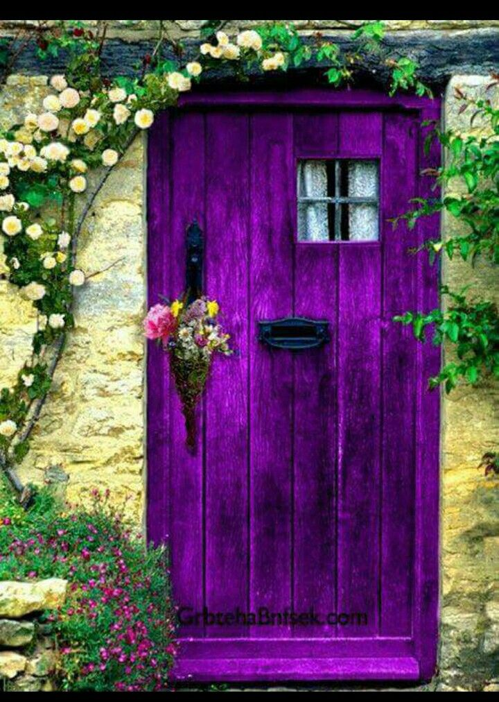 I would probably not ever have a purple front door to my house (no matter how sorely tempted) - but I would totally have a purple door on my garden shed!!