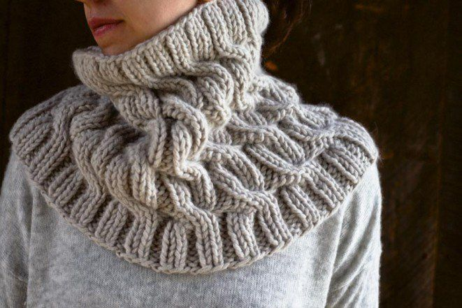 Free Knitted Cowl Patterns Pinterest : Cozy Cable Cowl Purl Soho - Create Knitting Pinterest Free pattern, C...