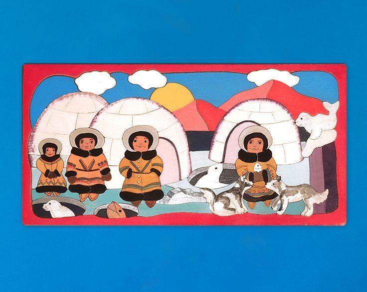 Handgefertigtes Holz-Puzzle mit wunderschönem Motiv für Kinder