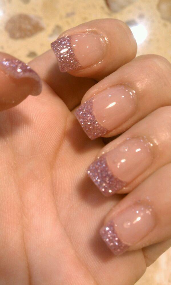 Glitter tips #nails