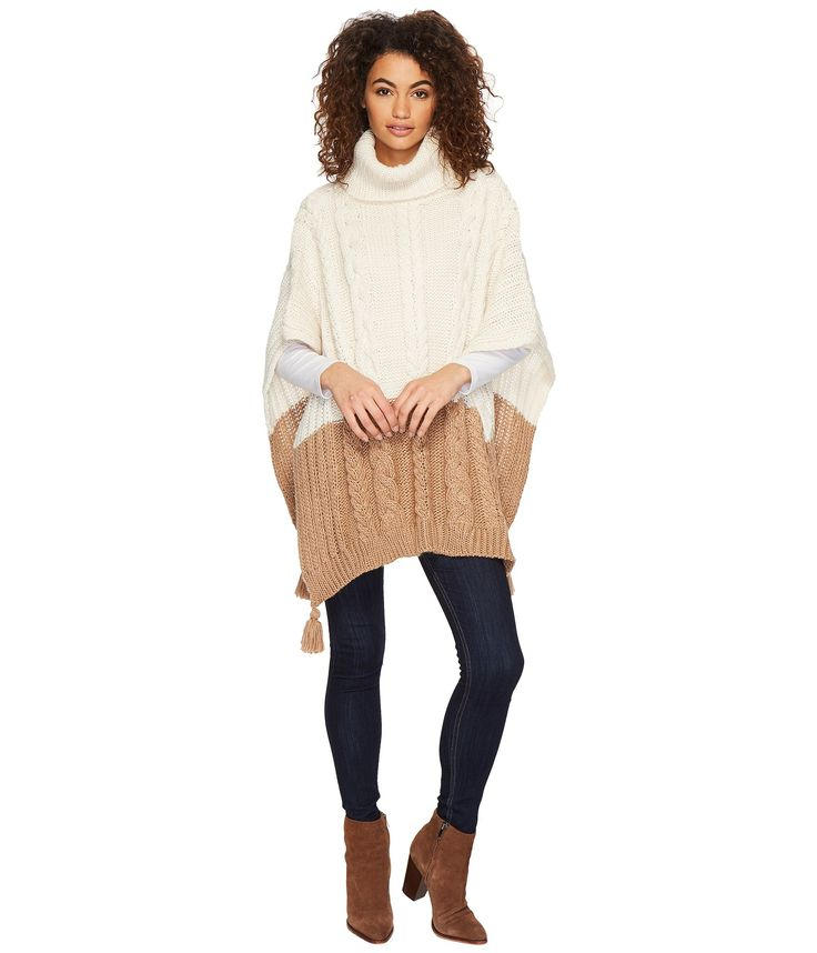 BCBGeneration Cable Knit Poncho