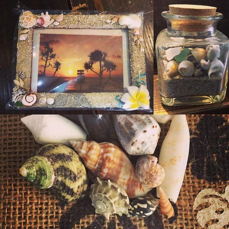 コースご参加の皆さんに以前からプレゼントしている貝殻 瓶に詰めたりフォトフレームにしたり沖縄の思い出と一緒に持ち帰ってくださいね #seanasurf#okinawa#沖縄#シーナサーフ#貝殻#ビーチ#beach #shell#お土産#フォトフレーム#砂浜#貝殻拾い#instagood