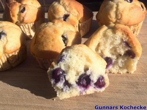 Blaubeer-Muffins / Blueberry Muffins - #Rezept