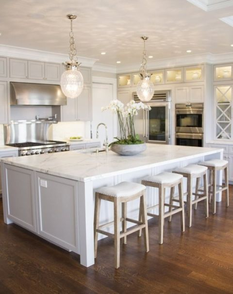 25 best ideas about Big kitchen on Pinterest Large  : 5321d04ed8596c4f08a5581277744883 kitchen island size white kitchen bar stools from www.pinterest.com size 480 x 606 jpeg 39kB