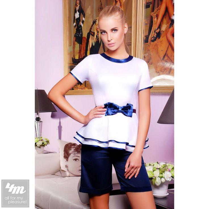 Блуза Glem «Бонни» (Белый, темно синяя отделка) http://lnk.al/4y2Z  #блуза #блузкабелая #блузка #блузы  #блузки #блузкакупить #блузавналичии #блузакиев #стильныйобраз #лукдня #мода #вещи #одеждаУкраина #4m #4mcomua