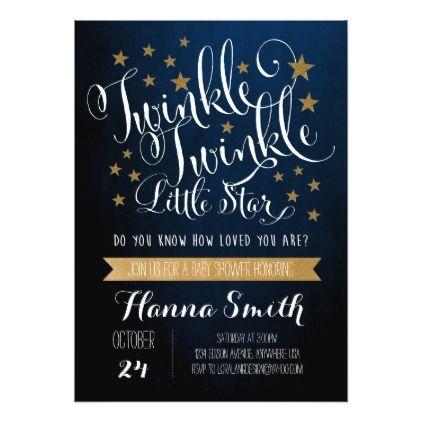 Twinkle Twinkle Little Star Baby Shower Invitation - baby shower ideas party babies newborn gifts