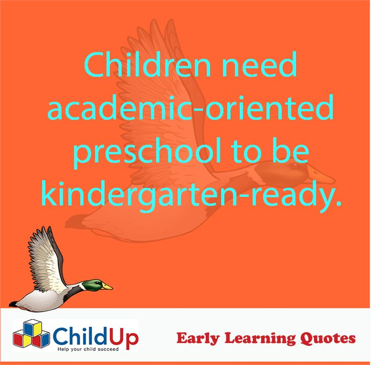 Early Learning Quote 507: Children need academic-oriented preschool to be kindergarten-ready.