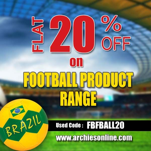CATCH THE FOOTBALL FEVER !  Shop now and kick start the #frenzy   visit: http://www.archiesonline.com/shop/football-merchandise  #offer #fifa #worldcup #soccer #brazil #football #quotes #fifa2014 #brasil2014 #messi #ronaldo #footballteam #archiesonline #gifts #greetingcards #RioCafe #argentina #arsenal #liverpool #chelsea