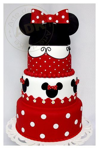 Seen this a few times and I always think of Tara... Minnie Mouse Cake
