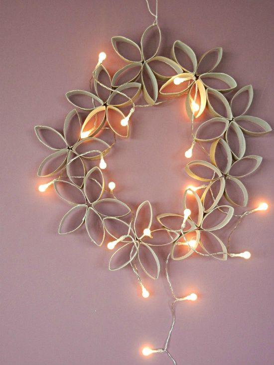 Selbst gemachter Weihnachtskranz – DIY – zurückgeforderter Kranz … Vorbereitete Weihnachten … – Prunille machte seine Show …   – couronnes